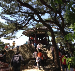 扶蘇山城と落花岩